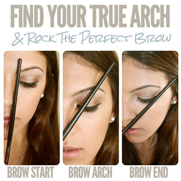 How To Find Your Eyebrow Arch Eyebrows Pinterest Eyebrows