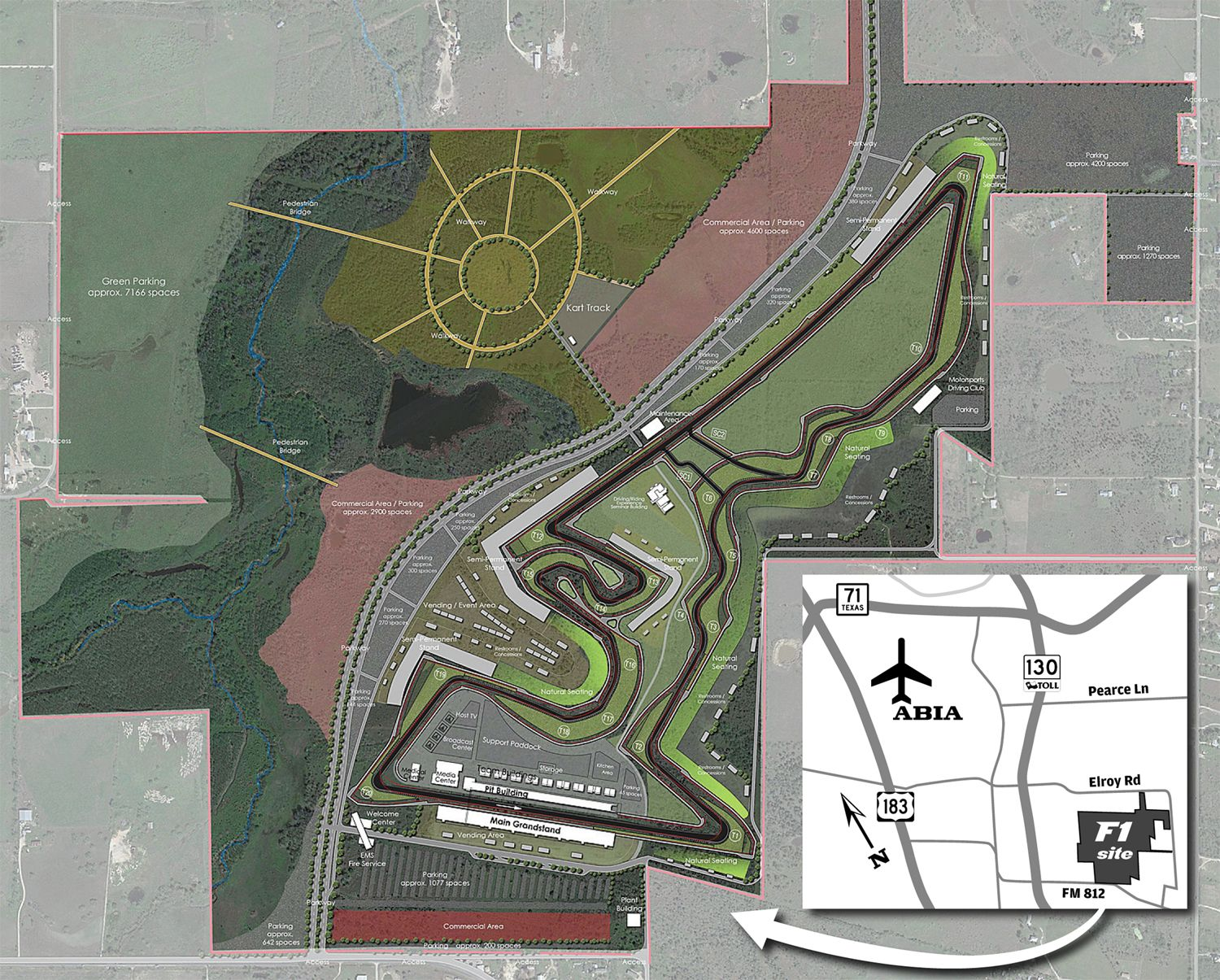 Circuit Of The Americas Map on