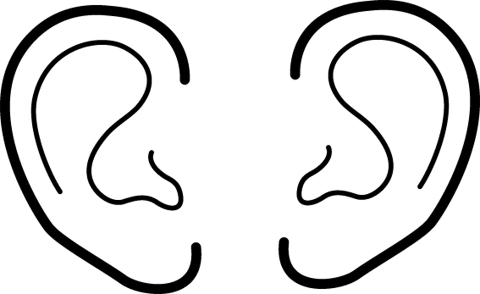 Choose Right 2012 Outline Sharing Time Ears 814115 Print Jpg 1 600 979 Pixels Ear Picture Ear Art Coloring Pages