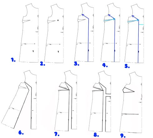Full Bust Adjustment on a Dress - from Lazy Stitching