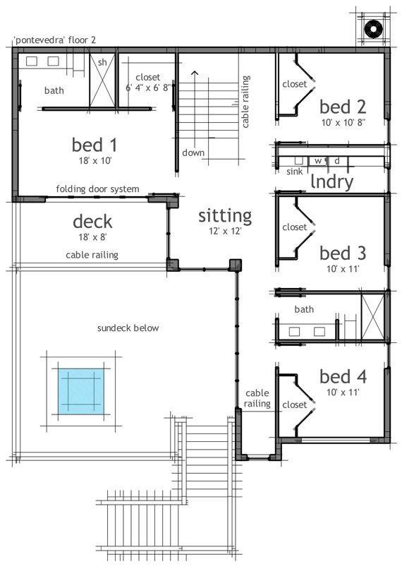Modern Style House Plan 2 Beds 2 Baths 2032 Sq Ft Plan 497 22 House Plans Modern Style House Plans Floor Plan Design