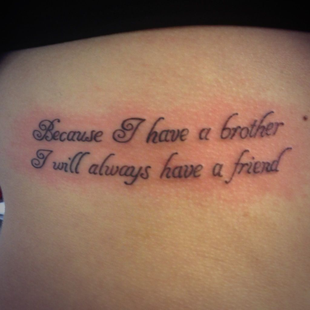 Because i have a brother i will always have a friend tattoos w brother tattoo on my ribs buycottarizona Images