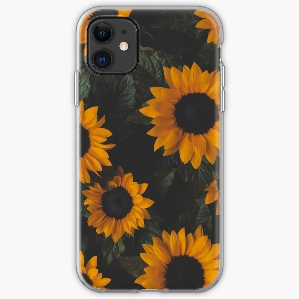 'Beautiful Sunflower Background' iPhone Case by shop4fun