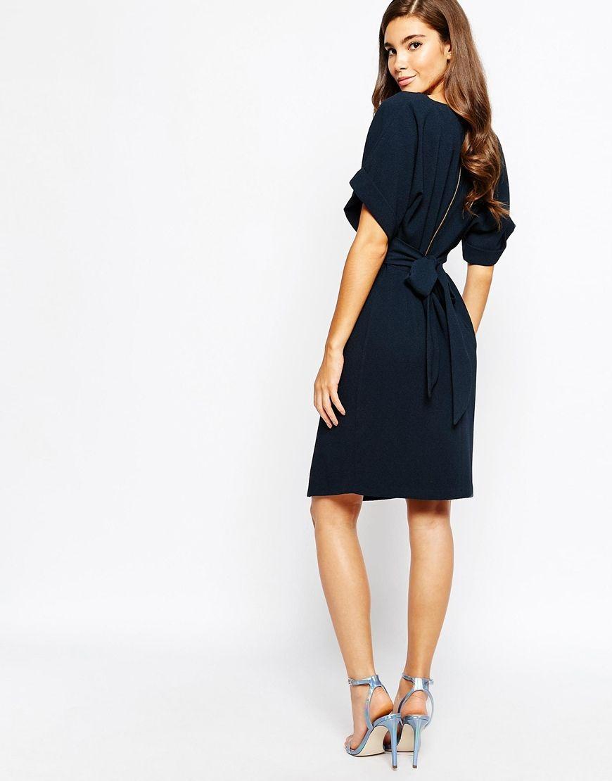 Kimono Sleeve Black Dress