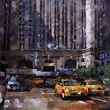 Mark Lague, Waterhouse Gallery- Impressionistic European Urban Landscapes, New York City, Manhattan, Italy, Rome