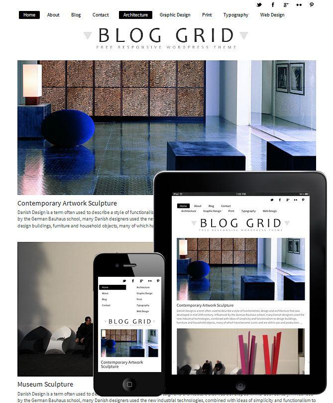 Blog Grid Theme Responsive is a WordPress Theme | Wordpress theme ...