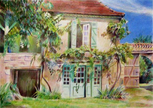 color pencil drawings landscape - Pesquisa Google | draws ...