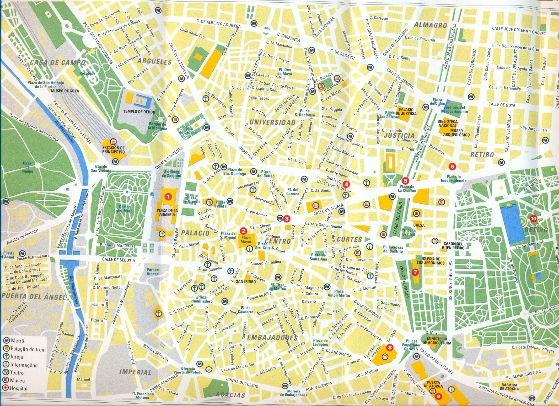 Madrid Map Map Of Madrid Map Mapa Owje Com Mapas Planos