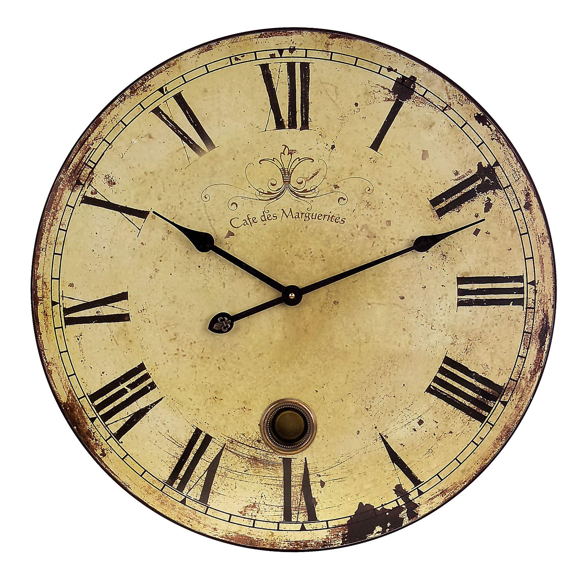 IMAX Large Wall Clock with Pendulum in Antique distressed {$79 ...