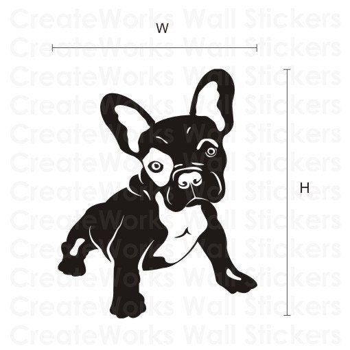 französische bulldogge kunst wandaufkleber von