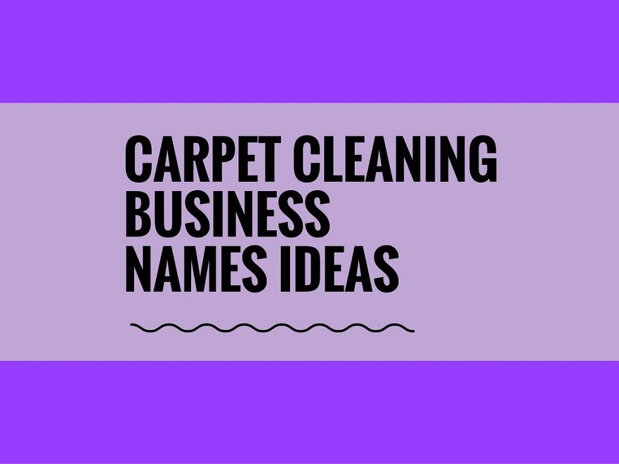 481  catchy carpet cleaning business names