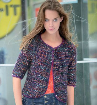 modele tricot gilet court