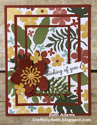 Crafts By Beth Triple Stampin With Paper Card Set A5 Cards Fabric Cards Stampin Up Cards