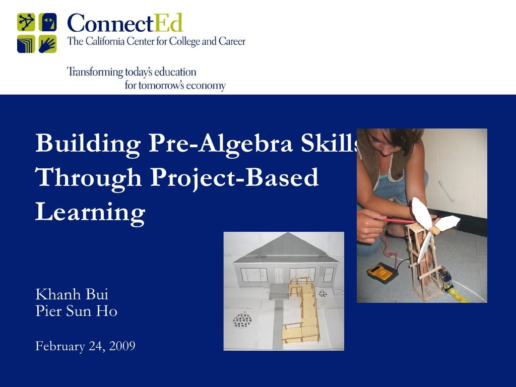 Building Pre Algebra Skills Through Project Based Learning