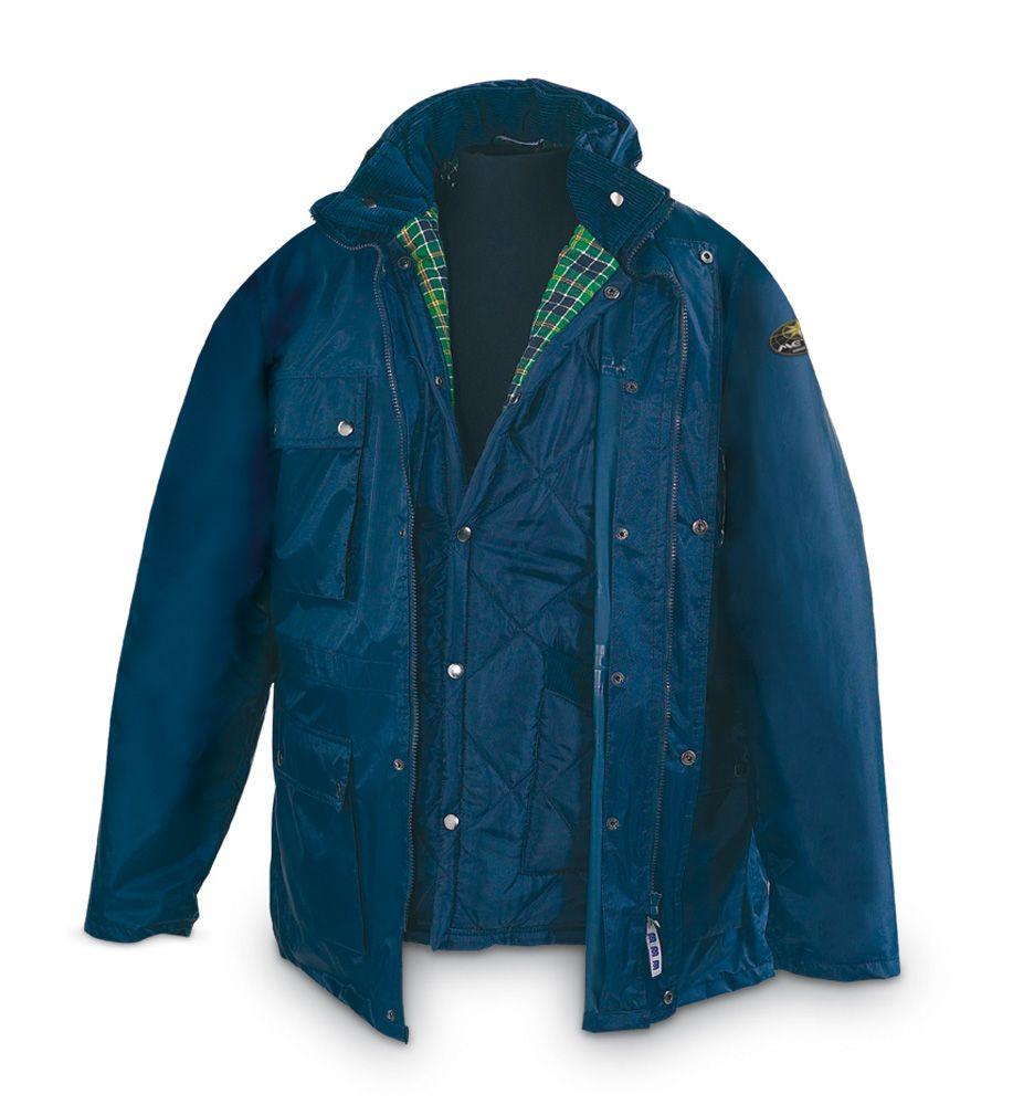 @marcaproteccion Parka TRIPLE USO. Color Azul Compuesta de dos piezas  unidas mediante un sistema
