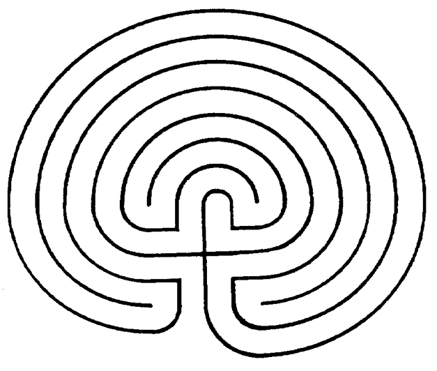 Clever image in finger labyrinth printable