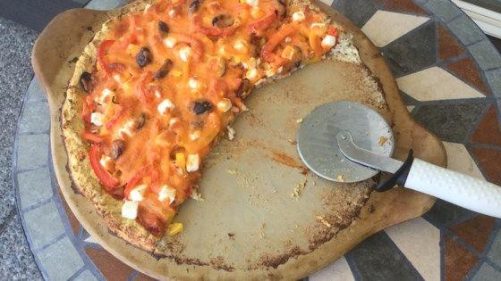 Cauliflower Almond Pizza Crust Recipe