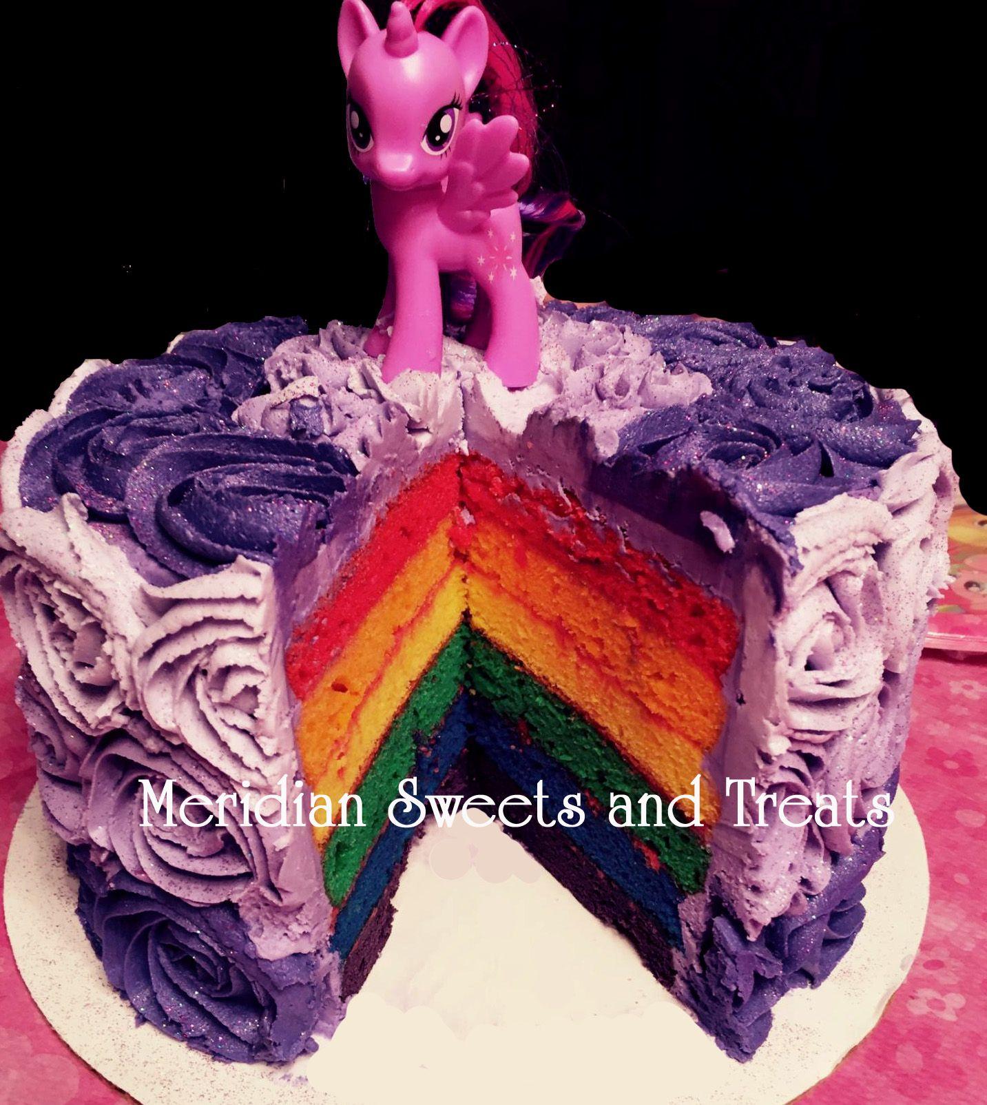 Inside Of Twilight Sparkle Purple Ombre Cake Rainbow