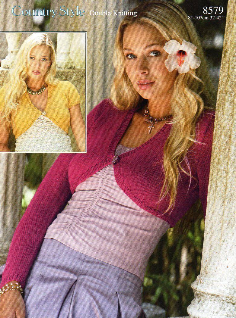 Womens Bolero knitting pattern PDF Ladies boleros womens short ...