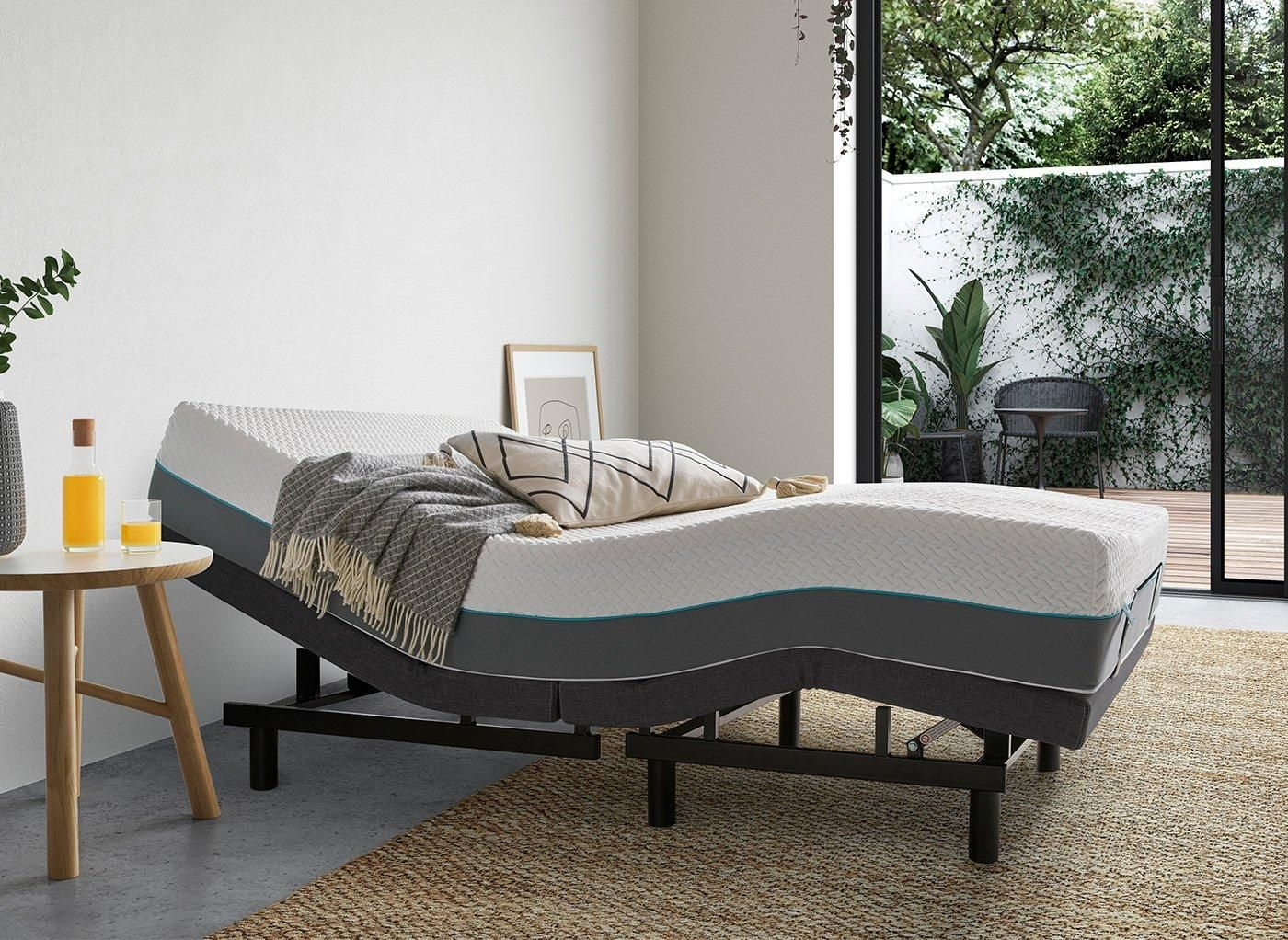 Sleepmotion 200i Adjustable Bed Frame 5 0 King Grey In 2020 Adjustable Bed Frame Adjustable Beds Bed Frame