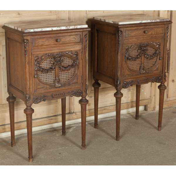 Antique Furniture Antique Bedroom Furniture Nightstands Pair Antique French Louis Xvi Nightstands