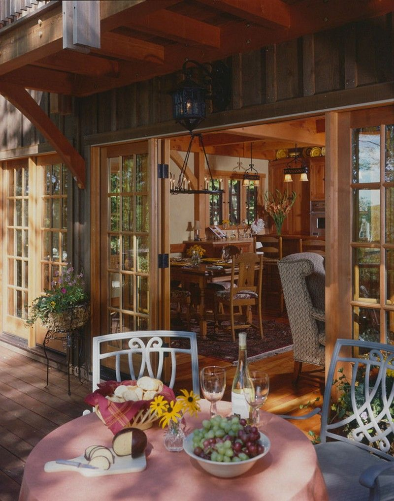Compact Hybrid Timber Frame Home Design Photos Timber Home Living: Post And Beam, Timber Frame Homes, Cottage House Plans