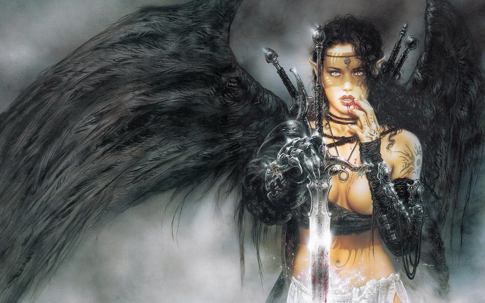 Mighty Warrior Luis Royo Fantastic Art Angel Warrior