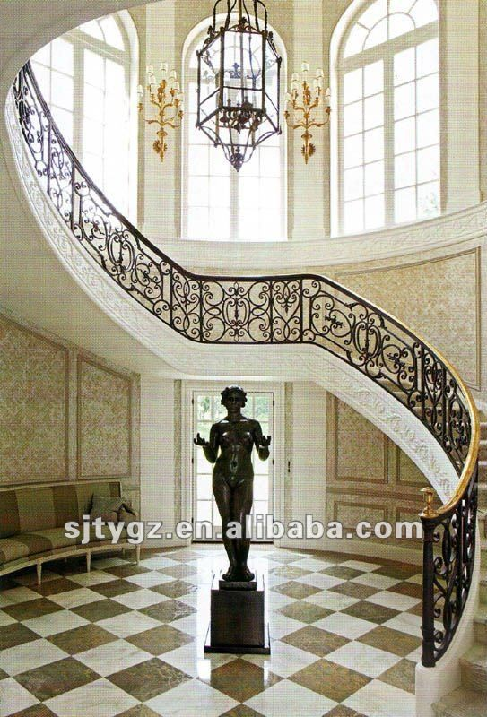 Best New Indoor Wrought Iron Stair Railing Fence Buy Wrought 400 x 300