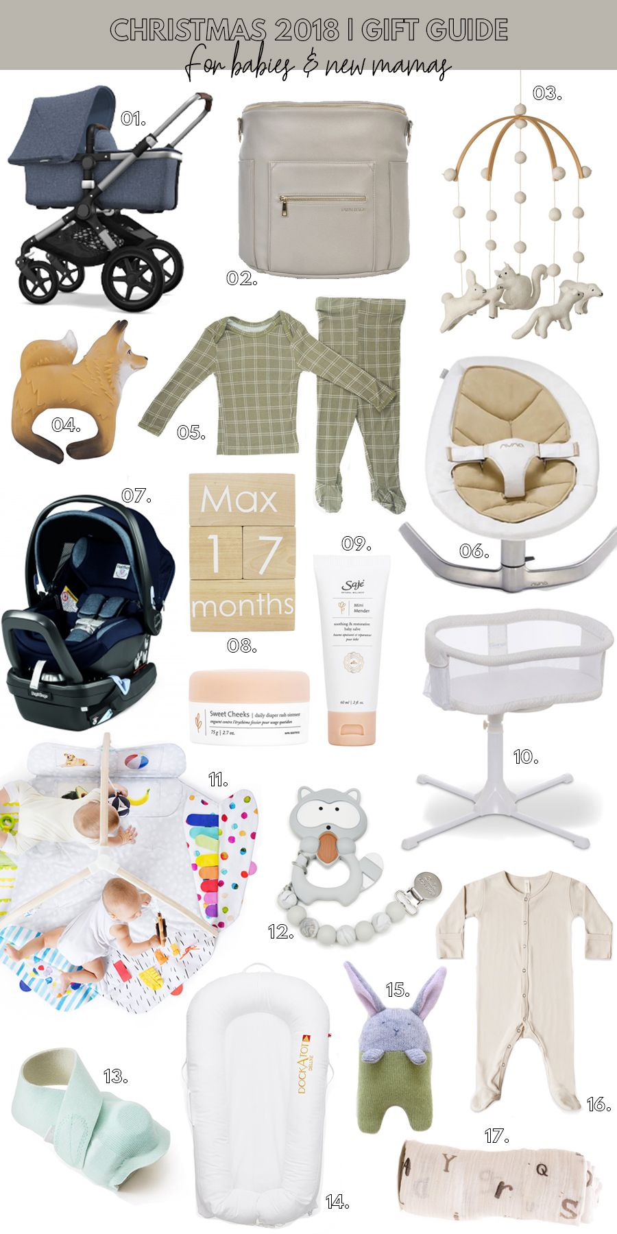 Christmas 2018 gift guide gifts for babies new mamas