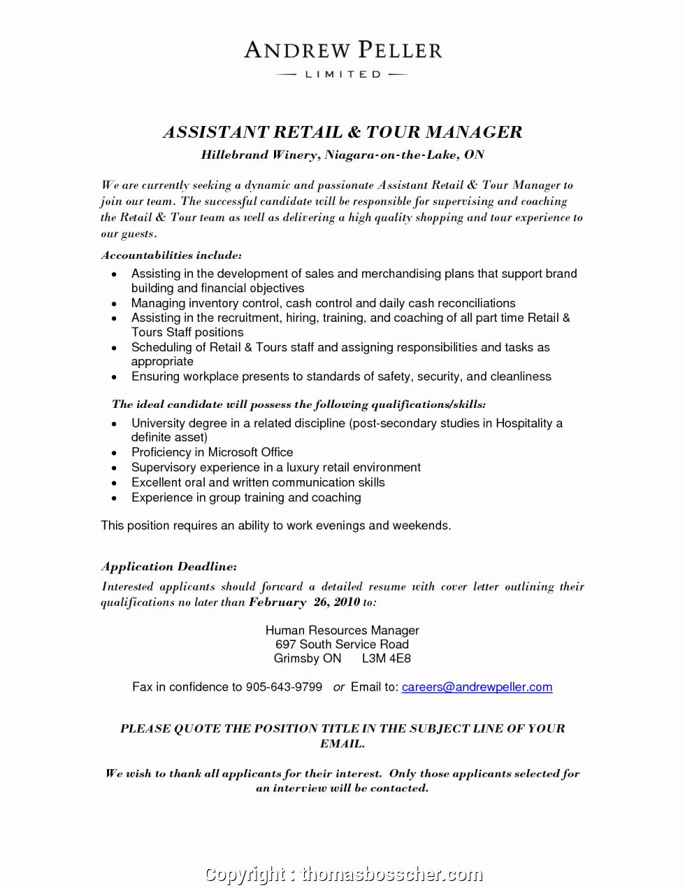 Assistant Manager Resume Description Luxury Professional Assistant Store Manager Responsibilities
