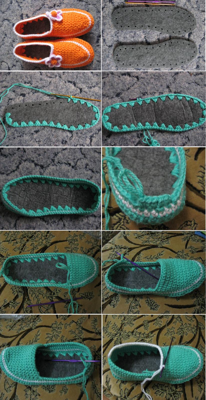 Patrones Crochet: Como hacer Zapatillas de Ganchillo desde unas ...