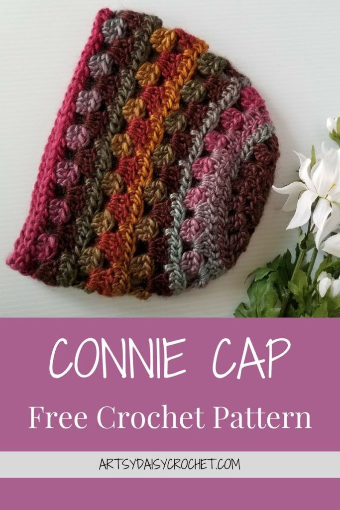 CONNIE CAP Free Crochet Pattern | Crochet Hats and Scarves ...
