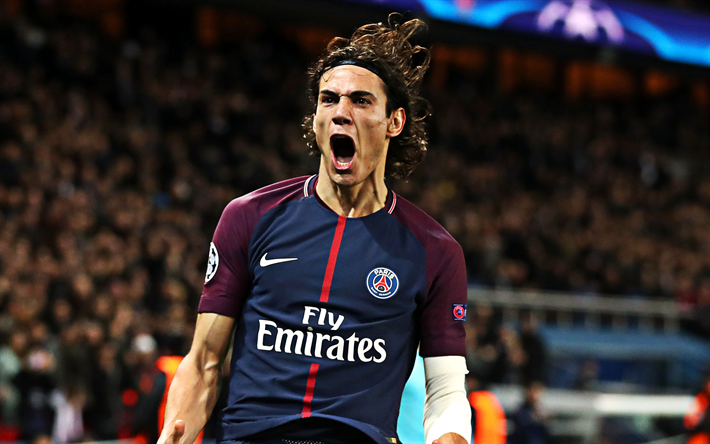 Download Wallpapers Edinson Cavani 4k Psg Uruguayan Footballer Portrait Paris Saint Germain Forward Ligue 1 France Football Ligue 1 Psg Football