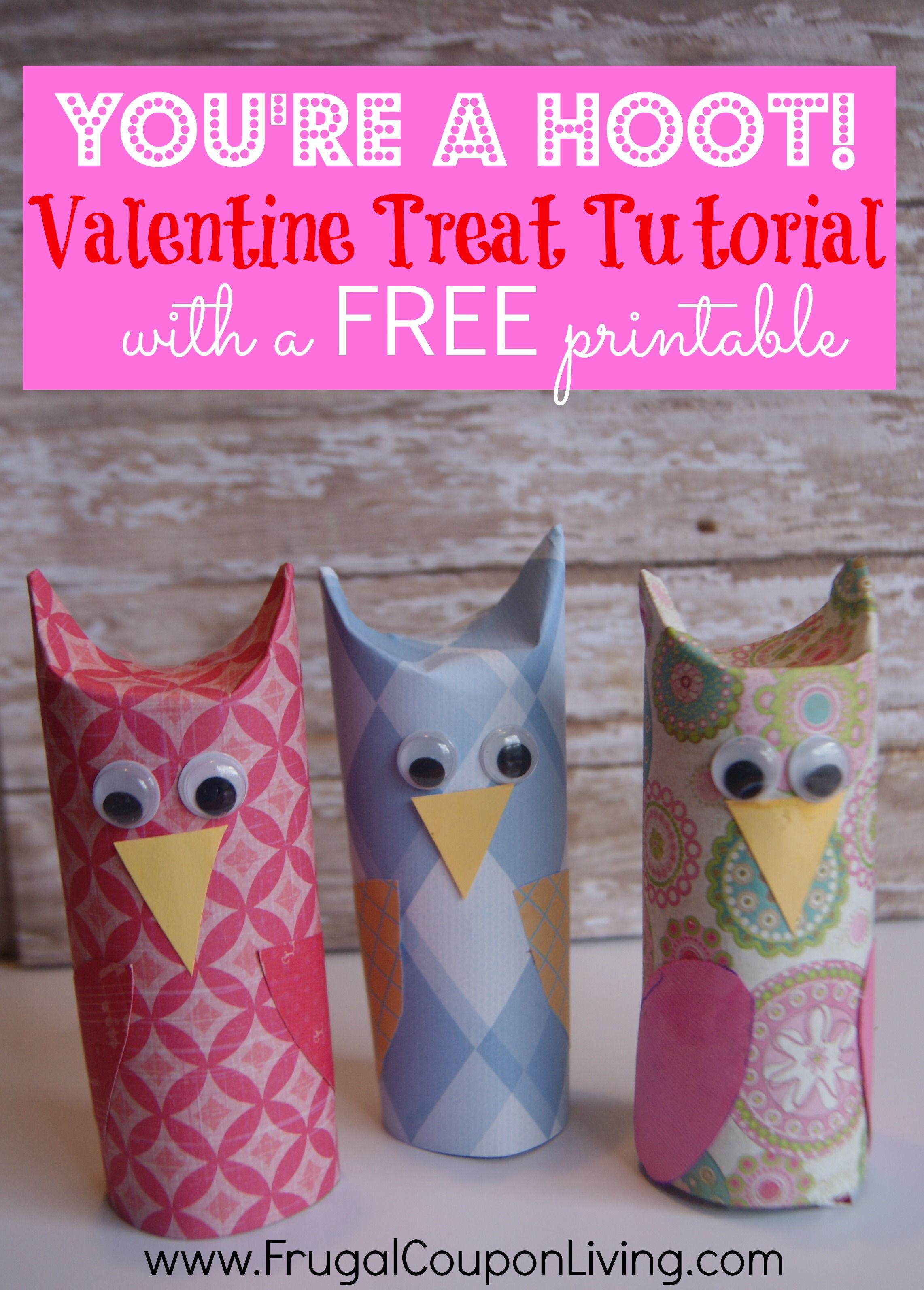 Diy valentine series youre a hoot owl valentine solutioingenieria Gallery