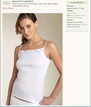 Make Your Own Custom-Fit Undergarments with These Sewing Patterns: BIAS-CUT CAMISOLE