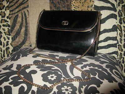 Vintage Authentic Gucci Black Evening Bag Purse