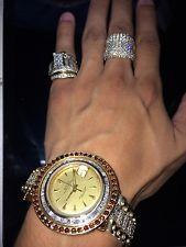 Men's 1963 datejust luxury ROLEX 18K & 14k With Red Diamonds!