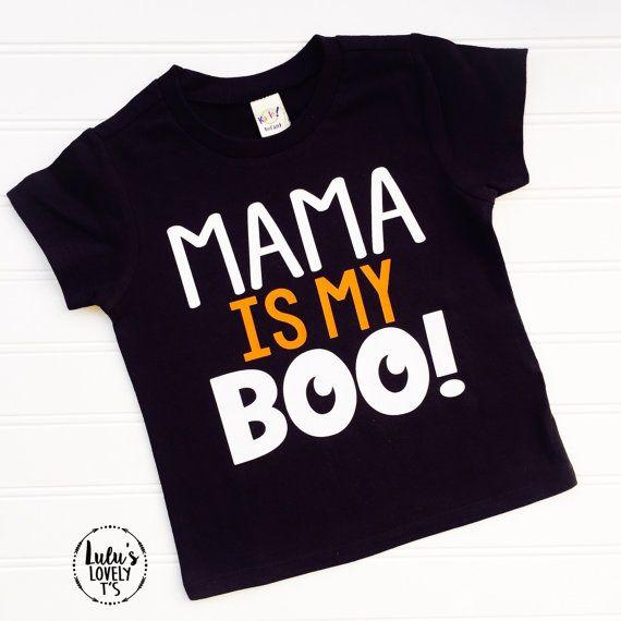 8da744d3 Halloween Shirt, Mama Is My Boo, Boys Shirt, Halloween tshirt ...