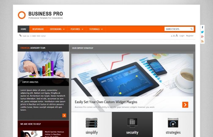 Business Pro - great responsive #Wordpress theme for any #business ...