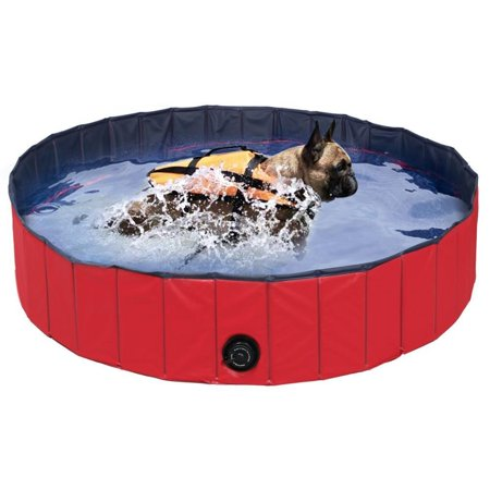 Dog Bathtub 63inch D X 12inch H Collapsible Pet Bath Pools Large
