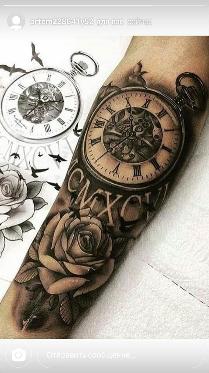 Pocket watch tattoos Pocket-watch-tattoos Clock tattoos Grey tattoo Portrait tattoos Celtic tattoo