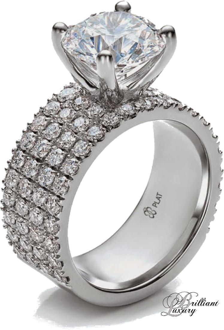 Brilliant Luxury * Custom Diamond Engagement Ring by Joseph Jewelry
