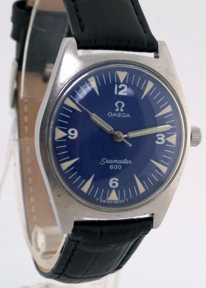 vintage men s omega seamaster 600 cal 601 manual winding blue dial rh pinterest com Rolex Submariner Patek Philippe