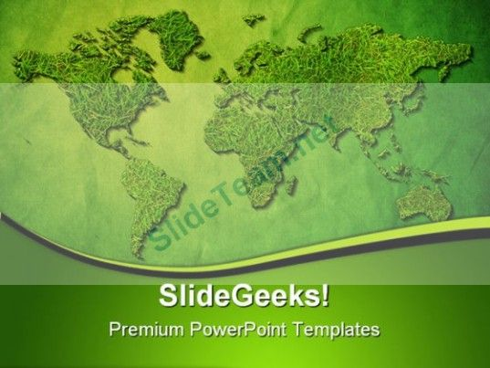 Green world map globe powerpoint template 1110 powerpoint green world map globe powerpoint template 1110 powerpoint templates themes background gumiabroncs Image collections