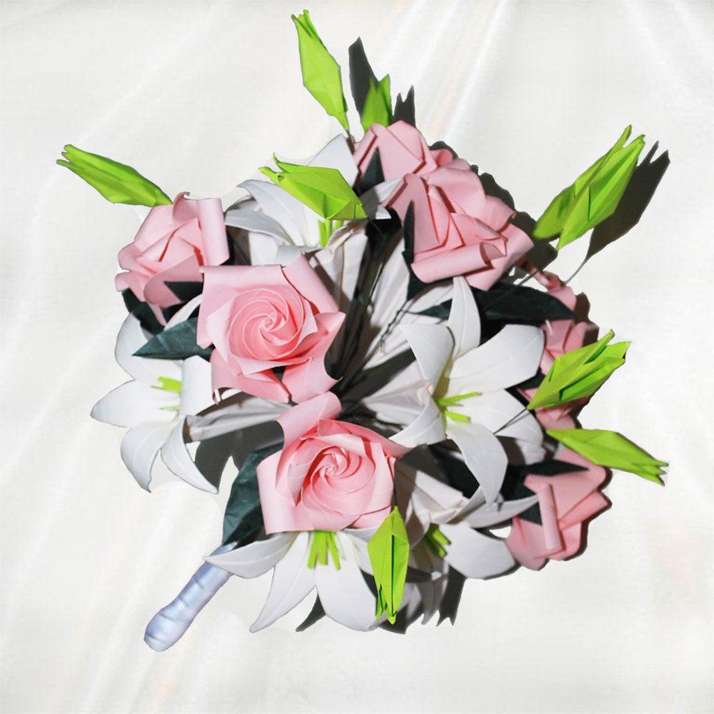 Sweetness Origami Bridal Bouquet 46 Folded Elements Origami