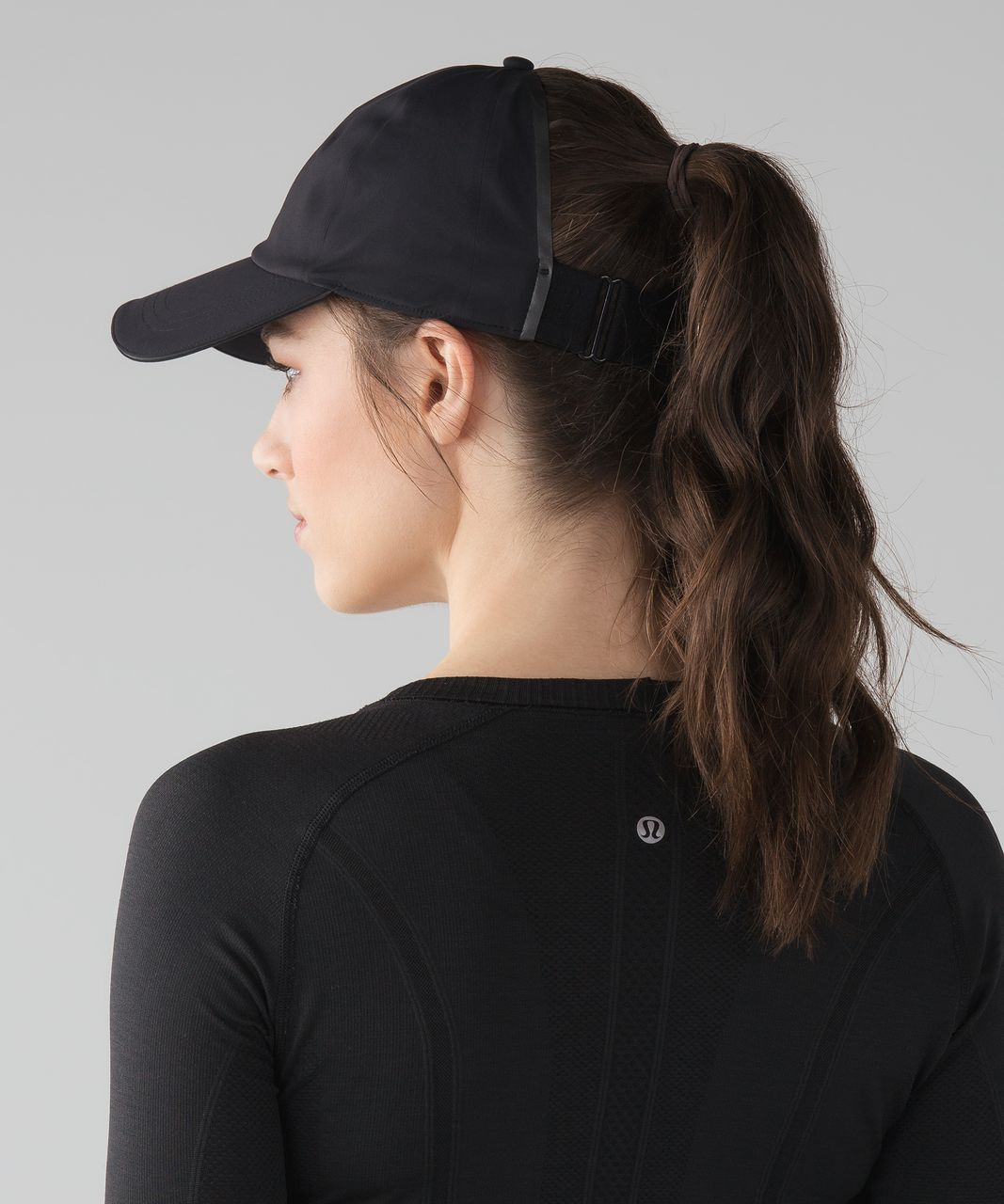 86628566 Release Date: 3/2017. Original Price: $38. Materials: Mesh, Spacer. Color:  black. Run fast and let your hair free in this sweat-wicking hat with a  wide back ...