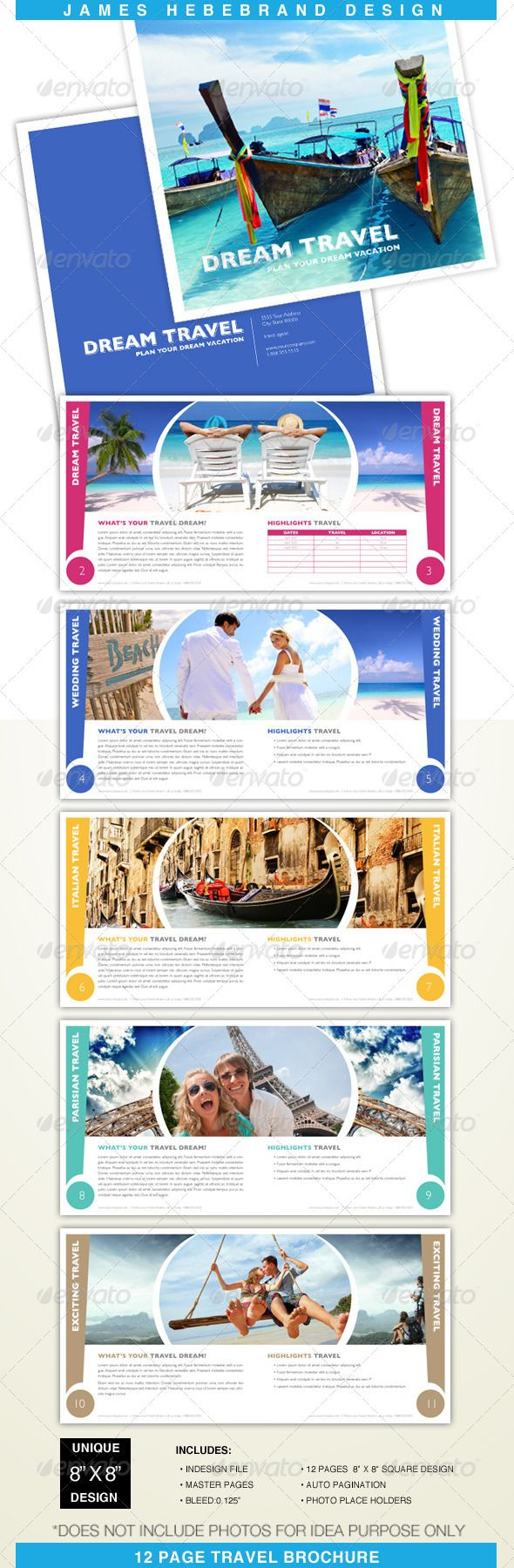 Travel Brochure Template  Travel Brochures    Travel