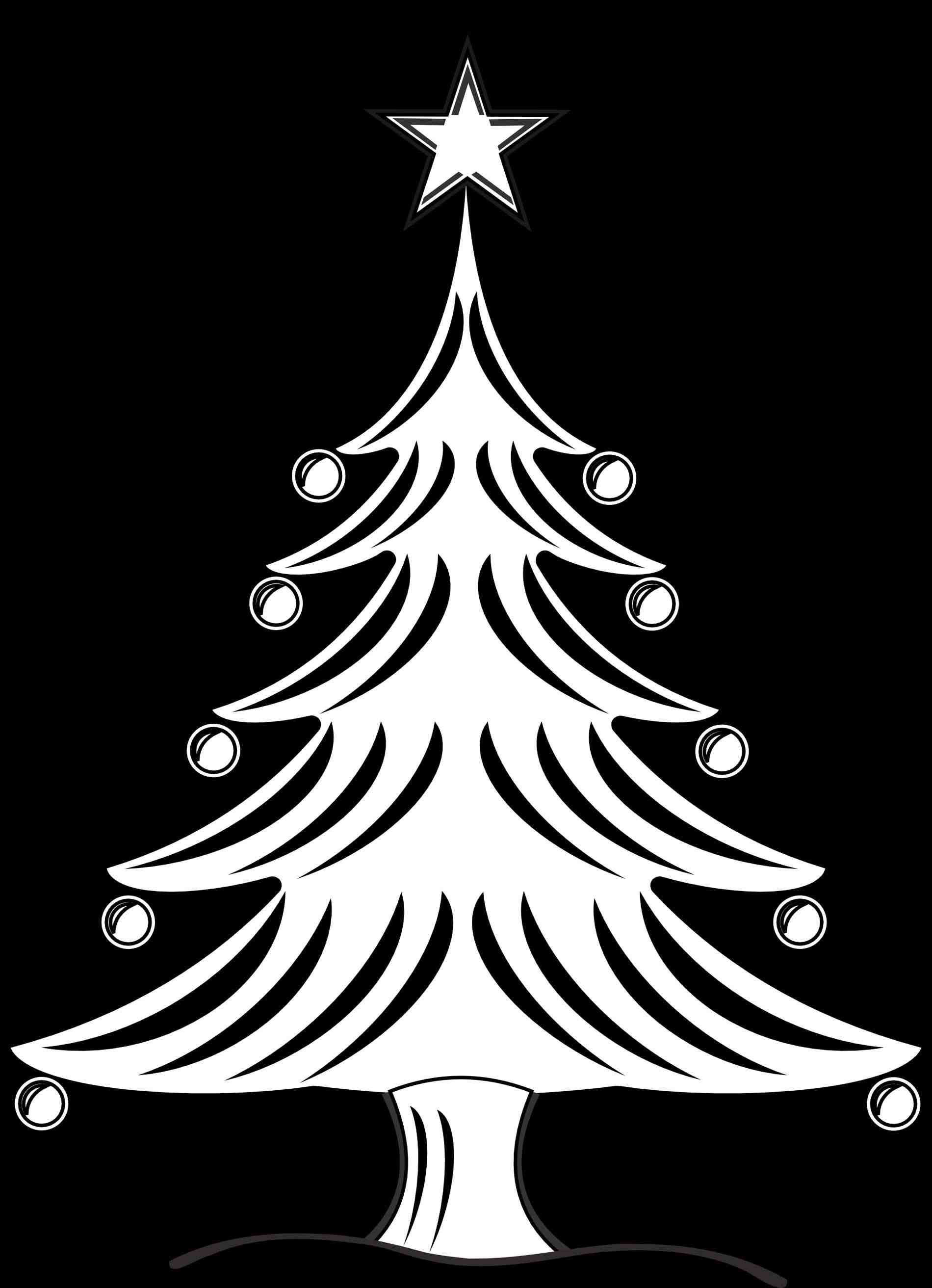 christmas candy clip art black and white Christmas tree