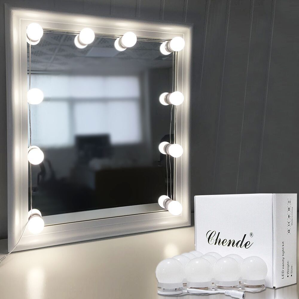 Chende hollywood style led vanity mirror lights kit with dimmable