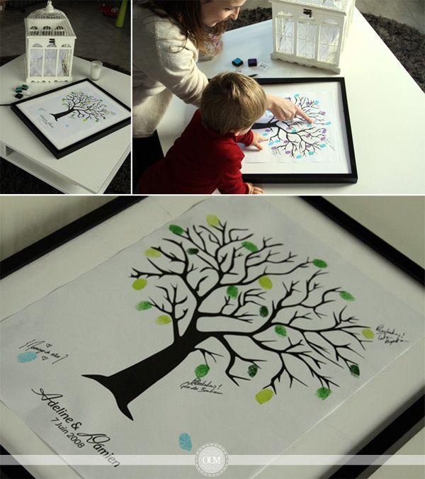 un arbre empreintes t l charger et imprimer gratuitement le blog organiser un mariage. Black Bedroom Furniture Sets. Home Design Ideas